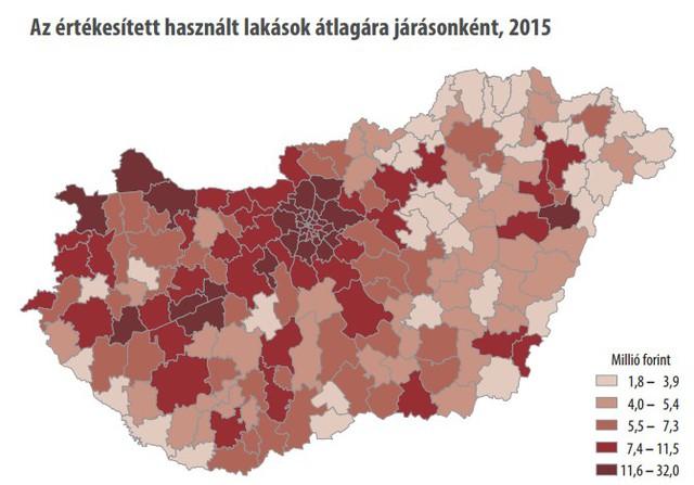 Térképen Magyarország hihetetlen lakáspiaci különbségei