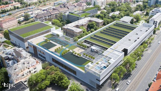 Tetőteraszon lévő sportpályák - Ilyen lesz a Testnevelési Egyetem új campusa