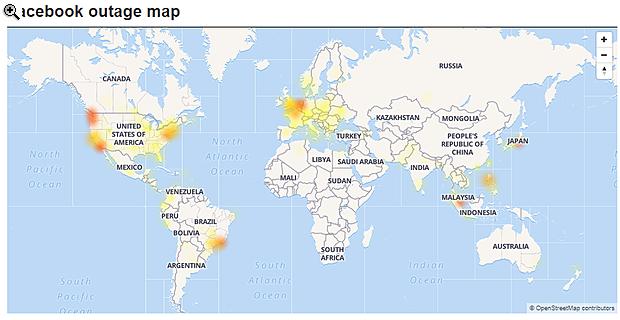 Világszerte akadozik a Facebook
