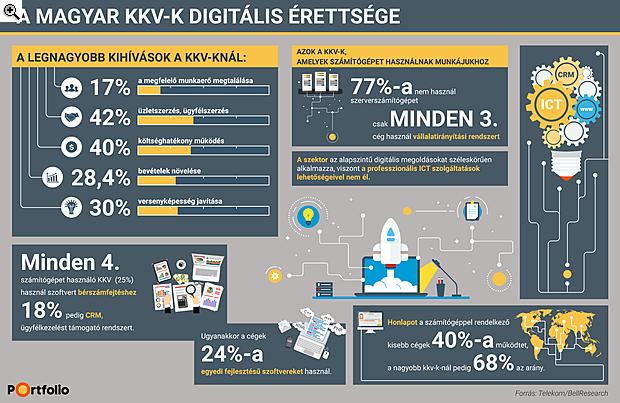 Egyetlen infografikán a magyar cégek digitális érettsége