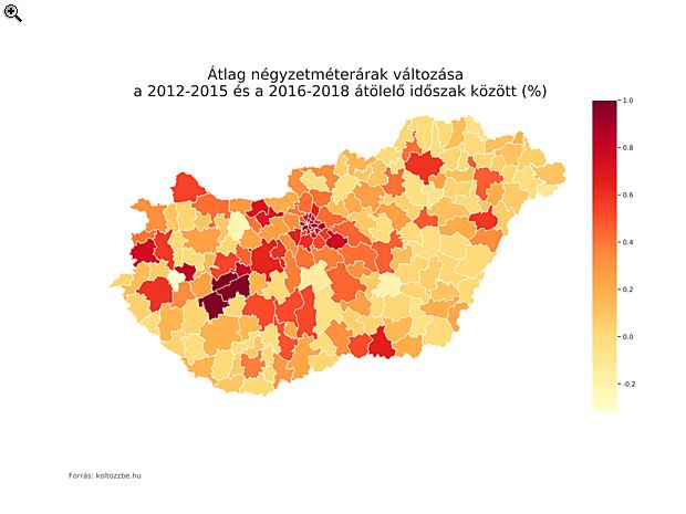 Két térkép, ami világosan megmutatja, hogy miért nőttek ennyire a lakásárak