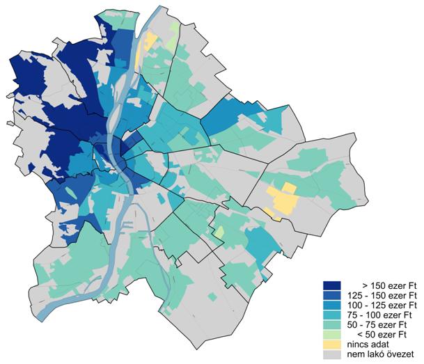 budapest ingatlan térkép Megjött a legfrissebb lista a budapesti bérleti díjakról  budapest ingatlan térkép