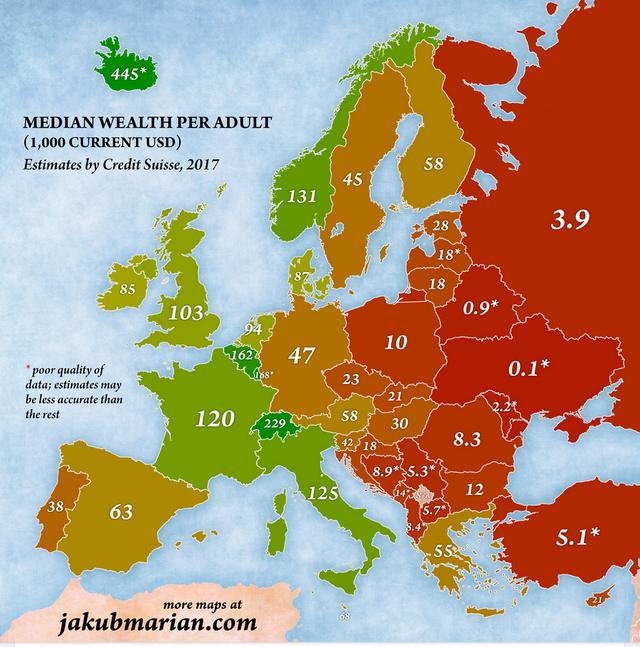 A nap ábrája: ennyivel vagyonosabbak a magyarok a szomszédoknál