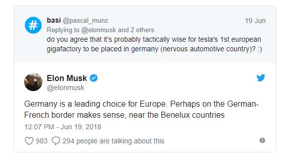 Musk elárulta, melyik európai ország lehet a legjobb választás egy új Gigafactory felépítésére