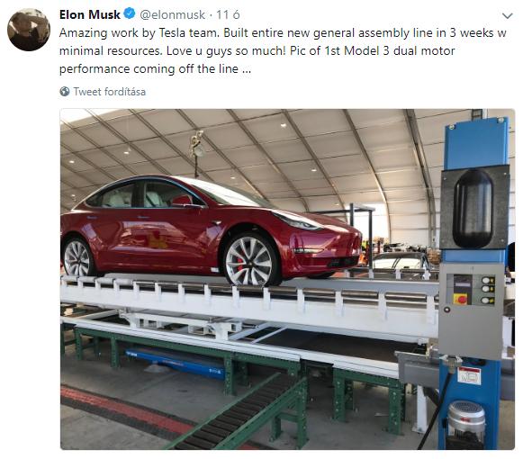 Ilyen az, amikor Elon Musk szerelmet vall, és egy képpel kedveskedik