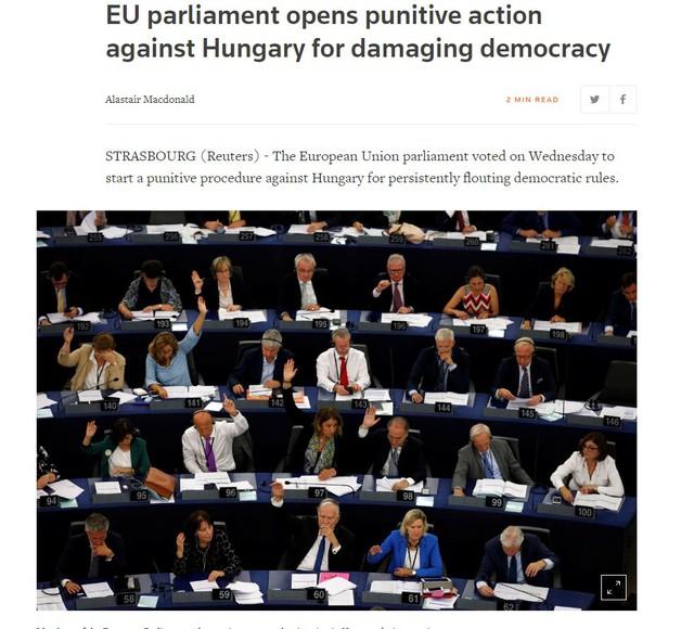 Címlapsztori lett Magyarország a külföldi sajtóban