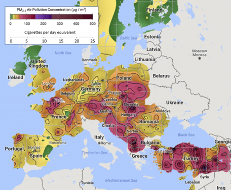 Rémisztő grafikon mutatja meg, mennyire súlyos a magyarországi légszennyezettségi helyzet