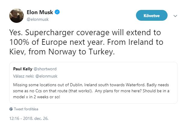 A Tesla beborítaná Superchargerekkel Európát