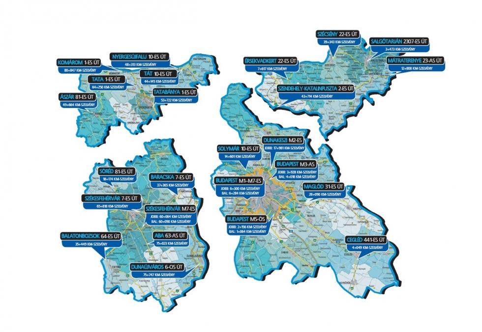 Véda térkép