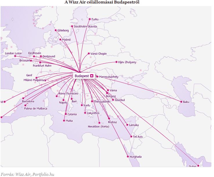 wizzair térkép Egyiptomba indít járatot a Wizz Air   Portfolio.hu wizzair térkép
