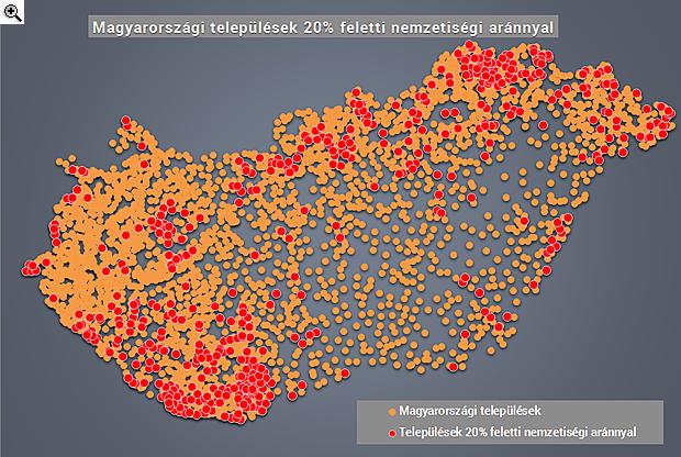 élő térkép magyarország Elkészült Magyarország nemzetiségi térképe | PORTFOLIO.HU élő térkép magyarország