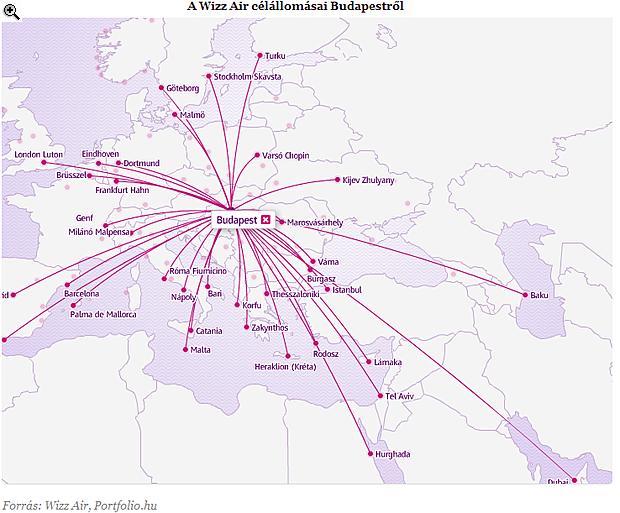 wizz air térkép Egyiptomba indít járatot a Wizz Air | PORTFOLIO.HU