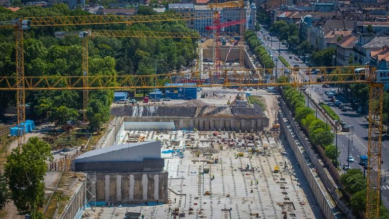Így halad az építkezés a főváros legnagyobb projektjénél (képek)