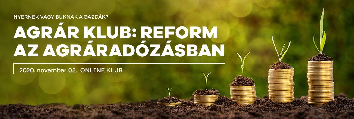 Portfolio Agrár Klub - Reform az agráradózásban