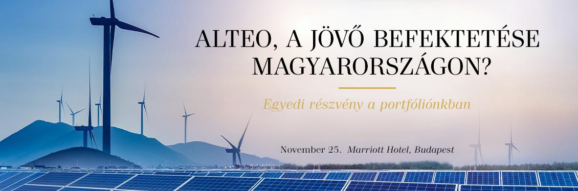Alteo, a jövő befektetése Magyarországon?