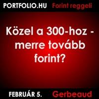 Portfolio.hu Forint Reggeli - Túl a 300-on - merre tovább forint?