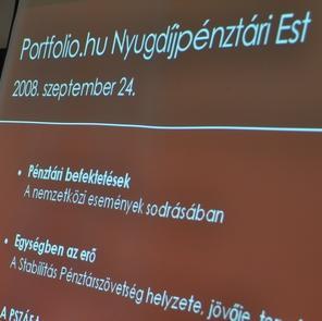 Portfolio.hu Nyugdíjpénztári Est - 2008. szeptember 24.