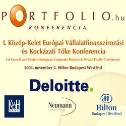 1. Közép-Kelet Európai Vállalatfinanszírozási és Kockázai Tőke Konferencia