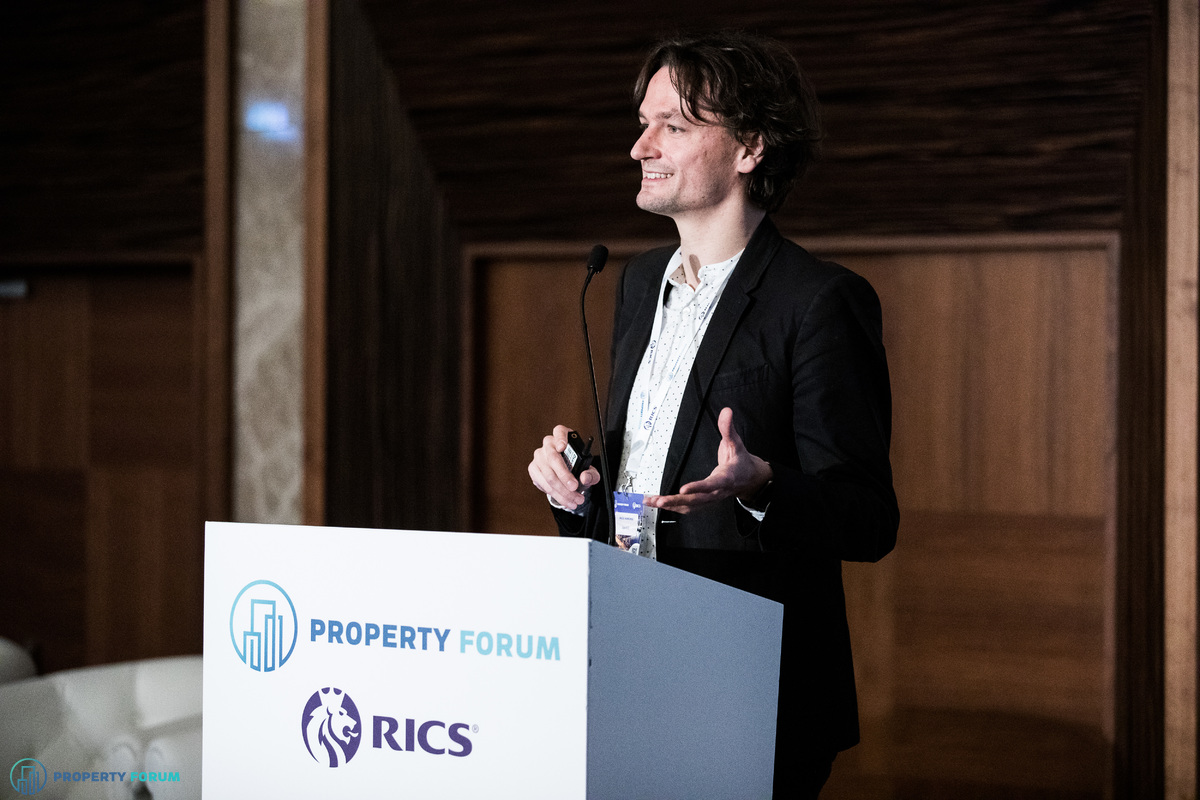 Maciej Markowski (spaceOS) spoke about how technology is transforming the world of real estate