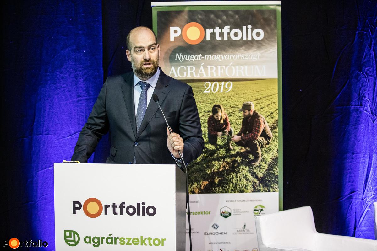 Bán Zoltán, a Portfolio vezérigazgatója nyitotta meg az Agrárfórumot