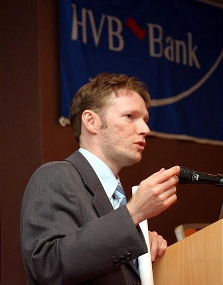 Szablics Tibor, HVB Bank - Üzleti Díj Bemutató