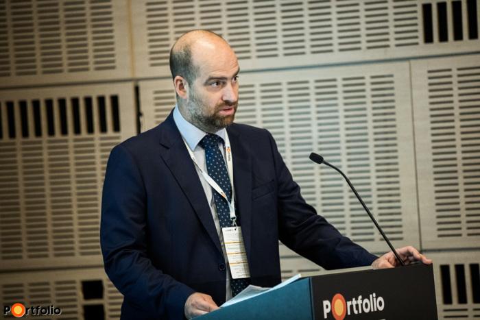 Bán Zoltán, a Net Média Zrt. (Portfolio) vezérigazgatója köszöntötte a vendégeket