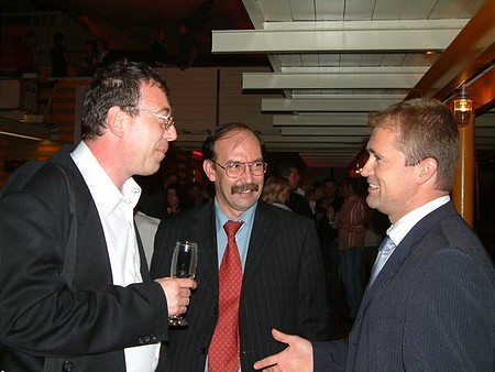 Zsolt Horváth, CEO of the BSE with Tamás G. Korányi and Ádám Fintha Nagy