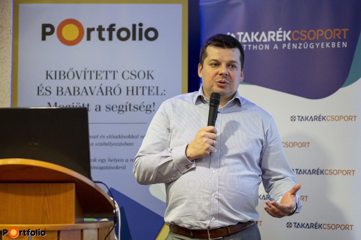 Illés Zoltán, a Takarékbank termékfejlesztési vezetője nyitotta meg a rendezvényt