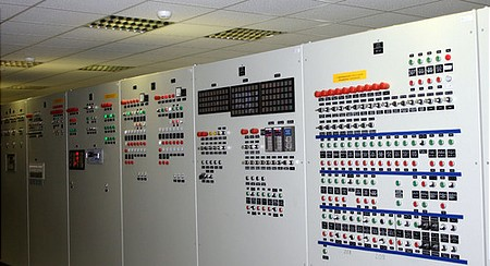 The controlroom of the desulphurisation unit