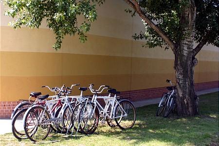 Sorszámozott kerékpárok a finomító területén: rend a lelke...
