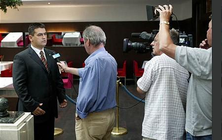 Mokrai Mihály, a PVOE elnöke interjút ad az MTV-nek