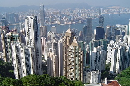 Hong Kong a Victoria hegyről