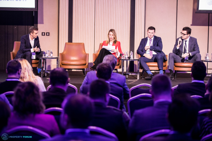 Investment in SEE panel: Andrew Peirson MRICS (CBRE), Dubravka Nègre (EIB), Matevz Mencak (Generali Investments LCC Slovenia) and Srdjan Teofilovic (CBS International | Cushman & Wakefield Group):