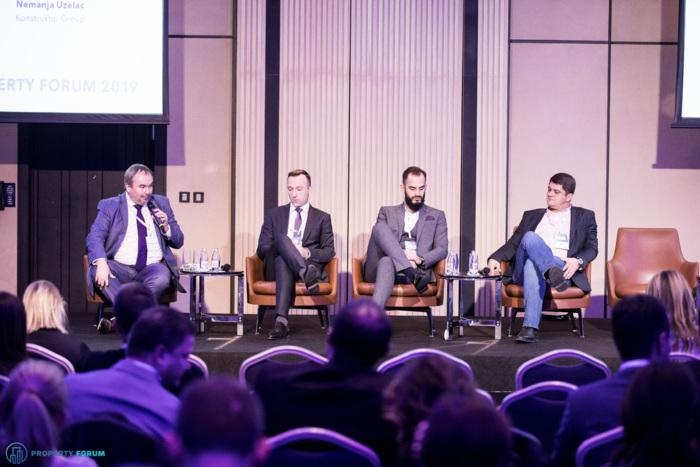 Logistics panel:  Alexander Samonig (ECOVIS SEE), Vlatko Djuricek (CTP), Nemanja Uzelac (Konstruktor Group) and Darko Djoric (MIND Group)