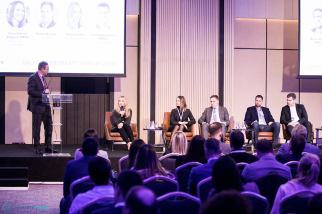 Hotel panel: Marius Gomola MRICS (Horwath HTL Hungary / HOTCO), Silvija Lovreta (Marriott International), Silvija Iliskovic Balagovic MRICS (Hotelis - Advisory & Valuation), Thomas Brezina (TB Capital),  Nikola Avram (Alpha Hotel Management) and Uros Vukomanovic MRICS (Soravia Management)