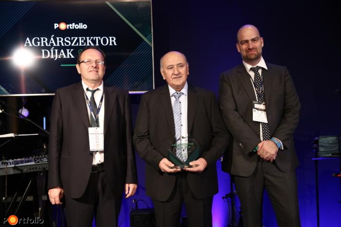 A Portfolio Agrárgazdaságért díj nyertese: Kovács Lajos elnök, Nagisz Zrt. (Nádudvar)