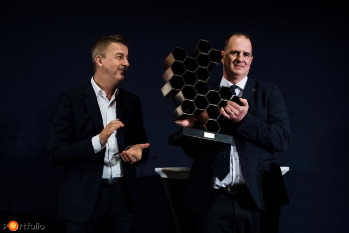 """Az """"Év Építőipari Személyisége"""" díj győztese 2020-ban Balás Ákos, a Magyar Építő Zrt. projektvezetője"""