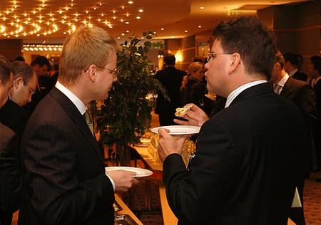 Főtámogatói networking- Seres Béla, Deloitte (jobbra)