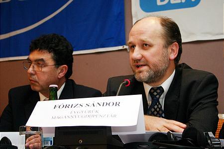 Fórizs Sándor, az Évgyűrűk Magánnyugdíjpénztár elnöke