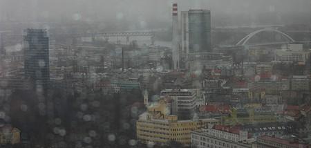 Az esős időben is látszik a Duna