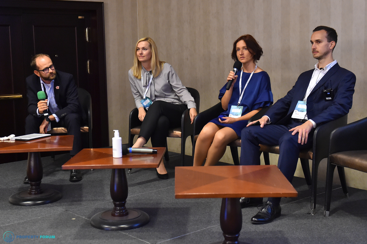 Office panel: Andrej Leontiev LL.M. (Taylor Wessing), Hana Ovesna MRICS (Slovak Green Building Council), Michaela Ochmanova MRICS (Colliers International), Marek Plavcan (HB Reavis)