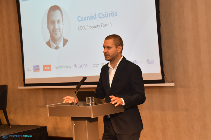 Welcome speech by Csanád Csűrös (Property Forum)