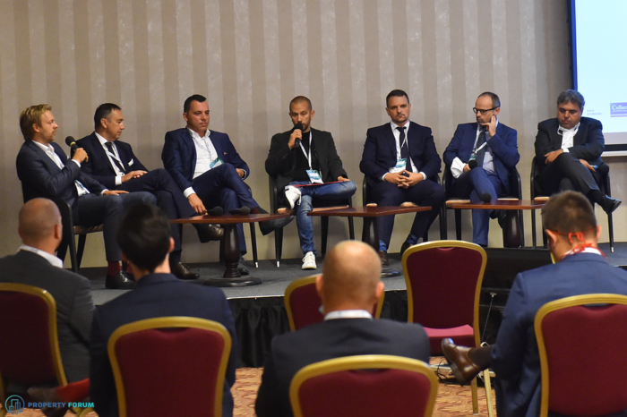Investment panel: Pavel Streblov MRICS (Penta Real Estate), Vladimír Bolek (IAD Investment), Marek Kalma (OCCAM Real Estate), Andrej Lehocky MRICS (Tatra Asset Management),  Robert Daniš (Wilsons), Marcel Kolesar MRICS (REICO), Dejan Mansfeld-Rupnik (ECE European City Estates Group)