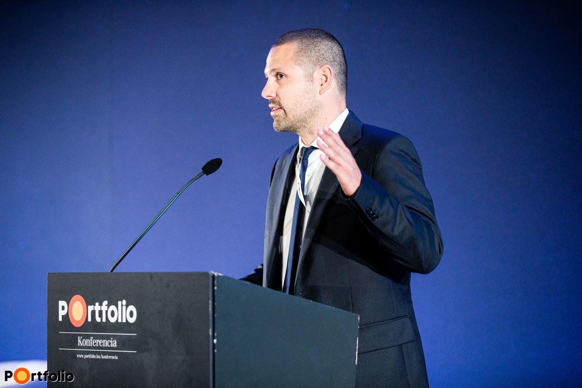 A konferencia moderátora és házigazdája, Ditróy Gergely (ingatlandivízió-vezető, Portfolio) köszöntötte a vendégeket.
