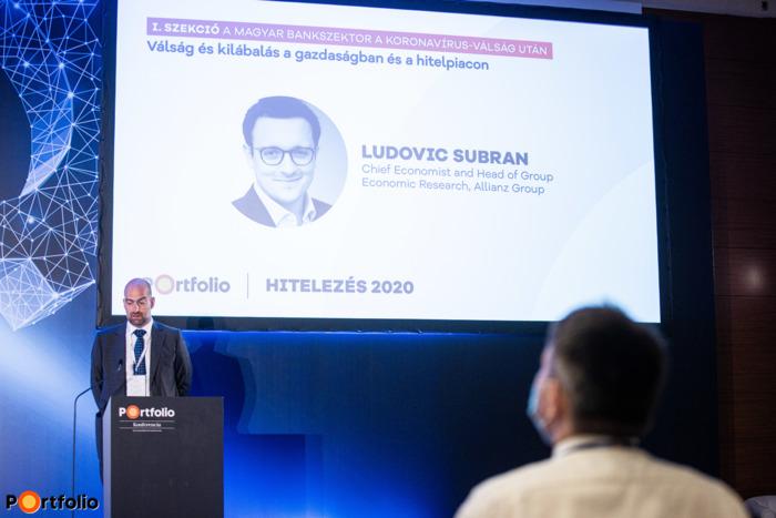 Ludovic Subran (Chief Economist and Head of Group Economic Research, Allianz Group) külföldi előadónk online jelentkezett be és tartotta meg előadását: Válság és kilábalás a gazdaságban és a hitelpiacon