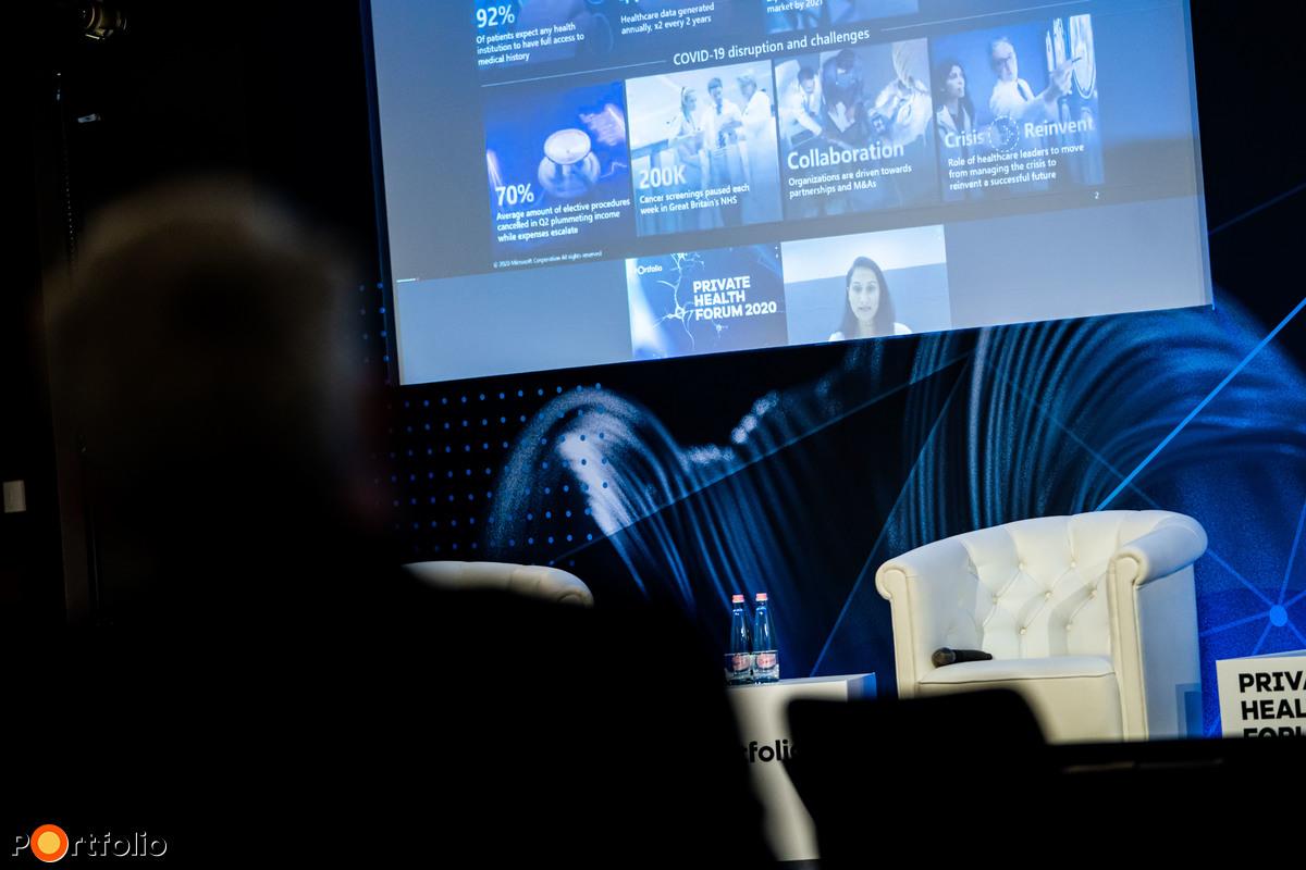 Digitalizáció az egészségügyi ellátás újragondolása érdekében: Kaidar Ruthy (Director, Health Industry Sector Central & Eastern Europe Microsoft) szintén online csatlakozott a konferenciához