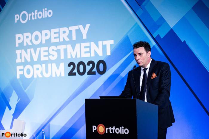 Az Év koncepciója prezentációk és szavazás: Dr. Schrancz Mihály (ügyvezető igazgató, Property Market Kft.) (Fotó: Stiller Ákos)