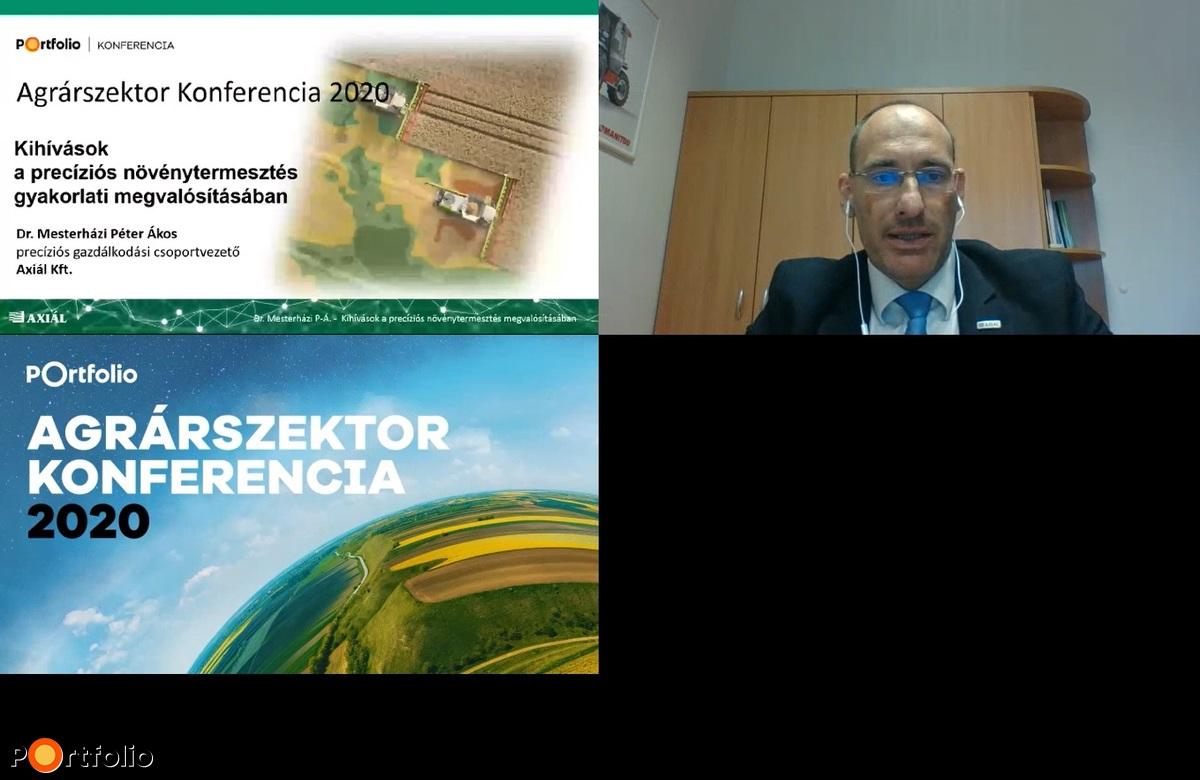 Mesterházi Péter Ákos (csoportvezető, Axiál Kft.): Kihívások a precíziós növénytermesztés gyakorlati megvalósításában