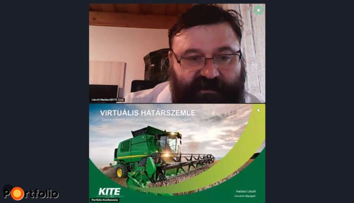 Hadászi László (innovációs főigazgató, KITE Zrt.) online csatlakozott: Virtuális határszemle: Gyors elérésű applikációk nem csak járványhelyzetben