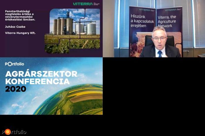 Juhász Csaba (ügyvezető igazgató, Viterra Hungary Kft.): Fenntarthatósági megfelelés értéke a növénytermesztési értékesítési láncban
